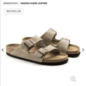 Birkenstock Arizona Suede Leather Taupe
